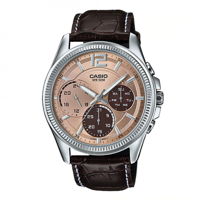 Casio Chronograph Watch for Men MTP E305L-5AVDF