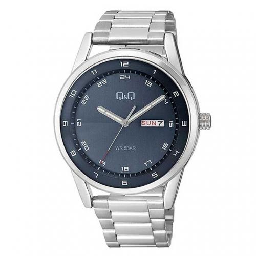 Q&Q A210J215Y Analog Day Date Wrist Watch for Men-Black