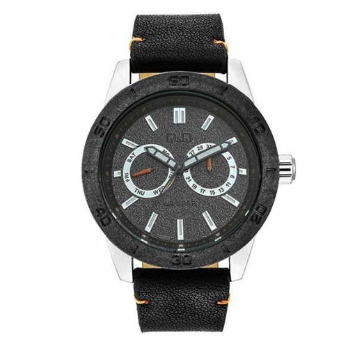 Q&Q AA34J302Y Black Chronograph Wrist Watch for-Men