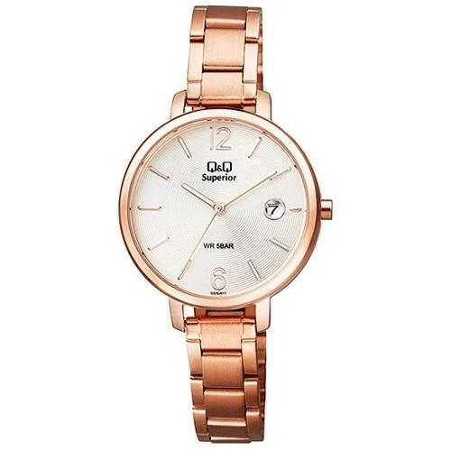 Q&Q S325J011Y Superior date steel watch for Ladies
